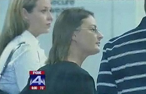 Ms Colleps, here in court, was allegedly filmed having sex with some of the students