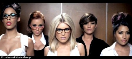 The Saturdays boast  We re bad girls  while promoting their new     Office attire  The girls star in their new music video Notorious  which  sees them