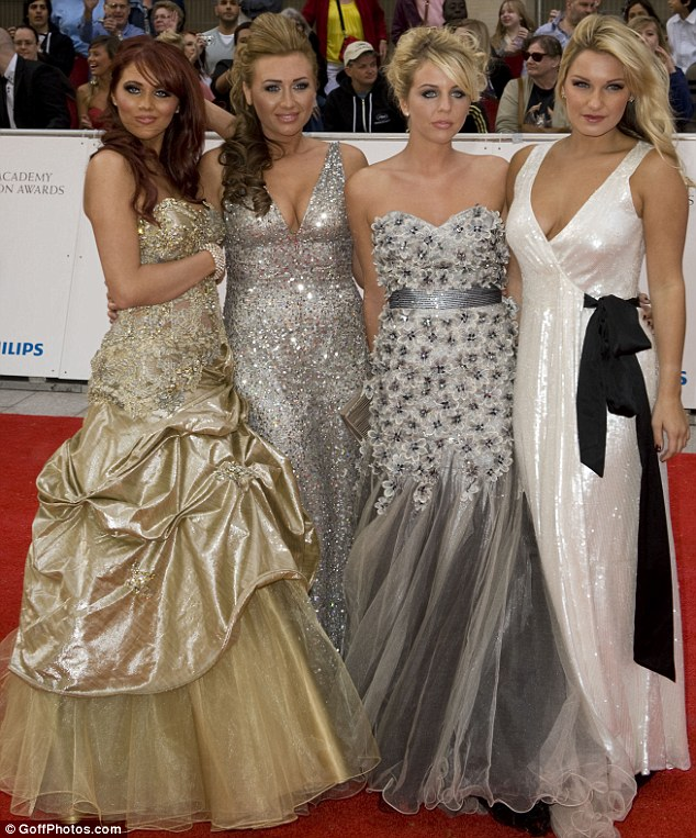 Essex girls leading the way: The Only Way Is Essex stars (left to right) Amy Childs, Lauren Goodger, Lydia Bright and Sam Faiers lead the glamour at the BAFTA Television Awards