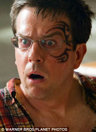 Ed Helms's Tattoo is rumoured to be a Copy of Mike Tyson's face tattoo.