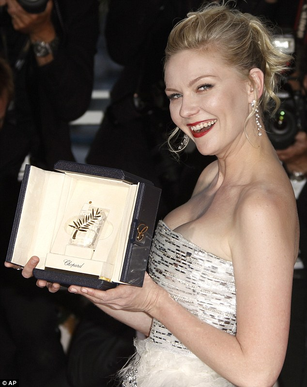 Kirsten Dunst conquers the Cannes Film Festival and takes the best actress award despite 'Nazi' comments from director