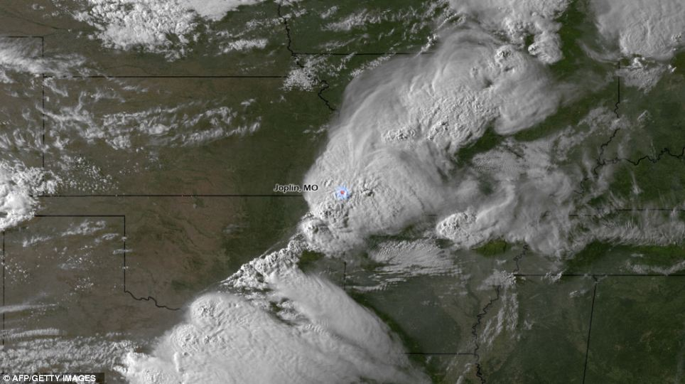 Charts: This National Oceanic and Atmospheric Administration image released on May 23, 2011 shows the storm system moments before spawning the tornado