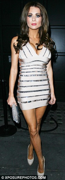 Leggy ladies: Danielle Lineker and Nicola McLean made an appearance at the event