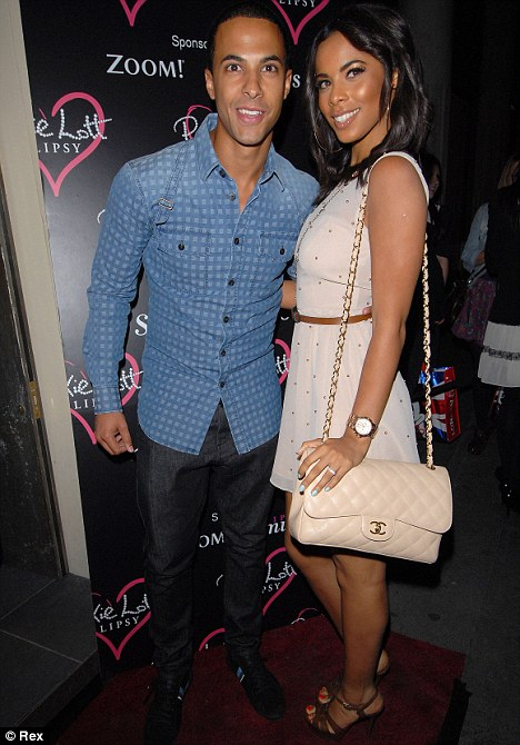Loved-up: Rochelle Wiseman attended the launch with boyfriend Marvin Humes