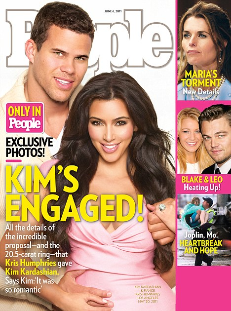 Big news: Kim Kardashian and Kris Humphries announced their engagement exclusively in this week's issue of People magazine