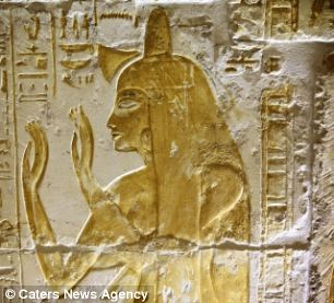 Hieroglyphics such as this are common in pyramids. Now a camera has revealed other ancient markings in the Giza pyramid