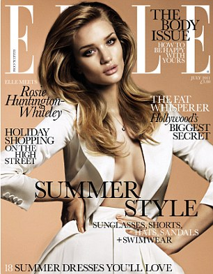 Flawless: Rosie appears on the July cover of Ellle Magazine, available June 1st