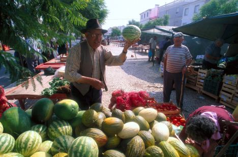 Community spirit: The market located in Alentejo