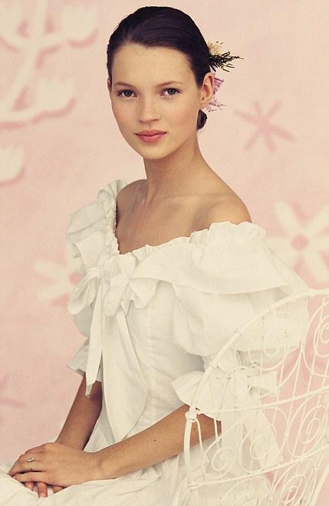 Kate Moss modeling dresses