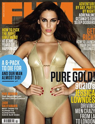 Cover girl Jessica Lowndes on the July issue of FHM