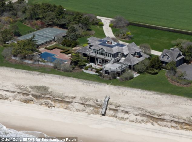 Taken out: Mr Tepper famously tore down his Hamptons mansion because he couldn't see the ocean from every room