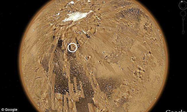 NASA and Google have both yet to respond to the 'finding', circled here