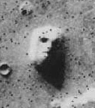 The infamous 'Face on Mars' image from 1976 caused a huge stir when it was released