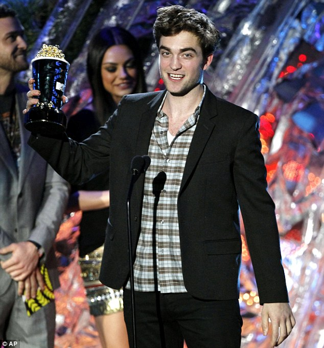 Stoked: Robert was thrilled to snare the Best Male Performance award