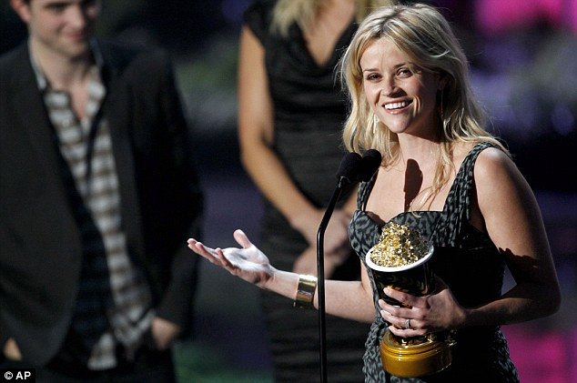 Crude: Reese shocked the crowd when she told Robert that he was the 'best motherf****r in Hollywood'