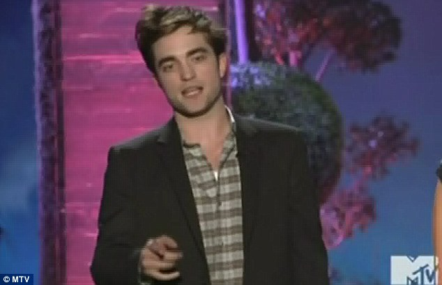 Dropping the bomb: It came after R-Patz joked how Reese had played his mother in the 2004 film Vanity Fair and how he went on to play her lover in their new film Water For Elephants