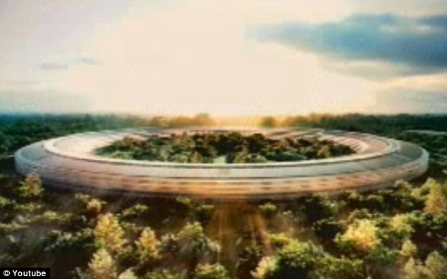 Spaceship: Apple CEO Steve Jobs has presented new plans for an impressive new circular-shaped head office for the technology giant in Cupertino, California, that will hold 12,000 employees