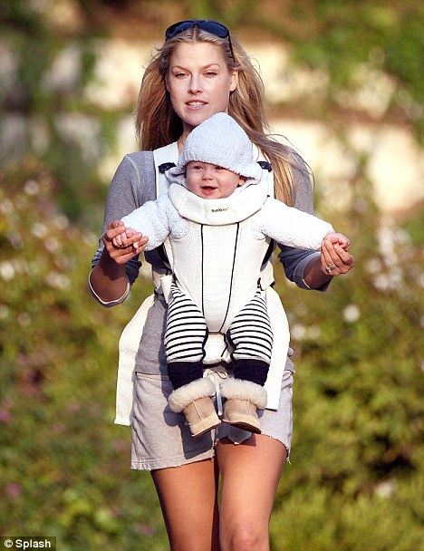 Content: Baby Theo seemed to enjoy his walk and getting some fresh air