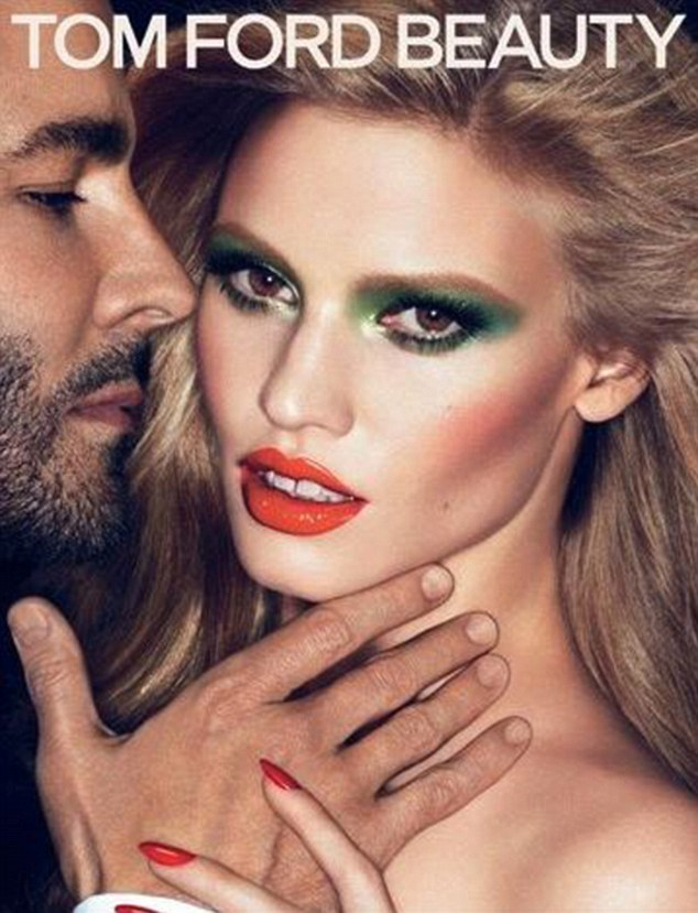 Tom Ford unveiled his new high-colour cosmetics range last week, along with an advertising campaign in which he co-stars with supermodel Lara Stone