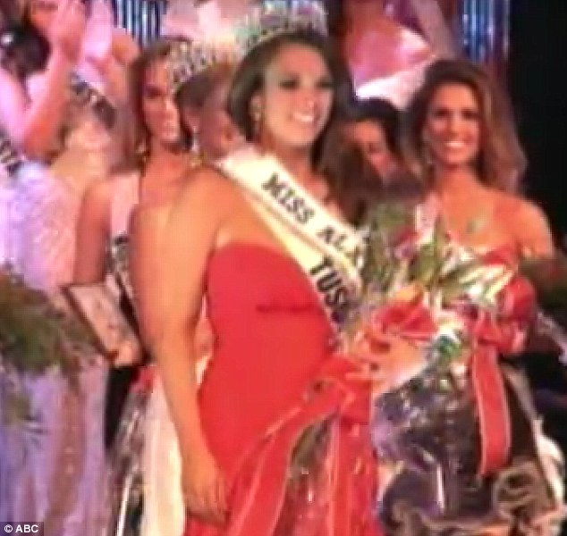 Success: Miss Mitchell was thrilled when she was finally crowned Miss Alabama last year