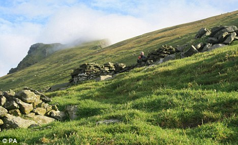 Location, location: Evidence of a permanent settlement dating from as far back as the iron Age has been discovered on the inhospitable St Kilda island of Borera