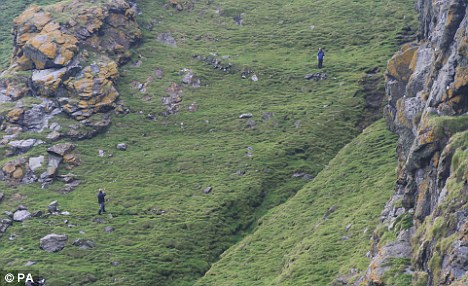 Farmed: Though the island has very steep slopes, the team found remnants of an agricultural field system and crop terraces