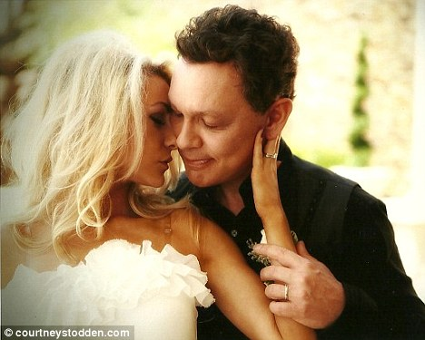 Extreme age gap: Hutchison, 51, and Courtney were married in Las Vegas last month