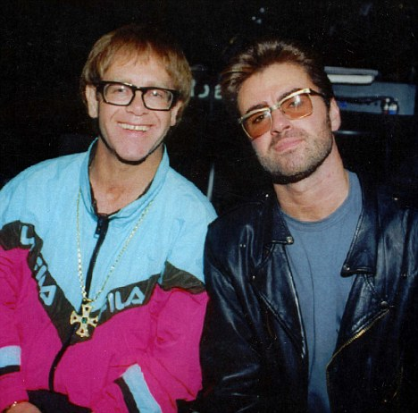 Image result for elton john and george michael