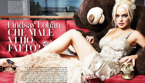 Return to form: Lindsay Lohan looks stunning in these sexy Vanity Fair Italy shots taken when she was under house arrest at her property in Venice, California