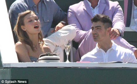 New romance? Joe Jonas was spotted looking cosy with top model Karlie Kloss over the weekend