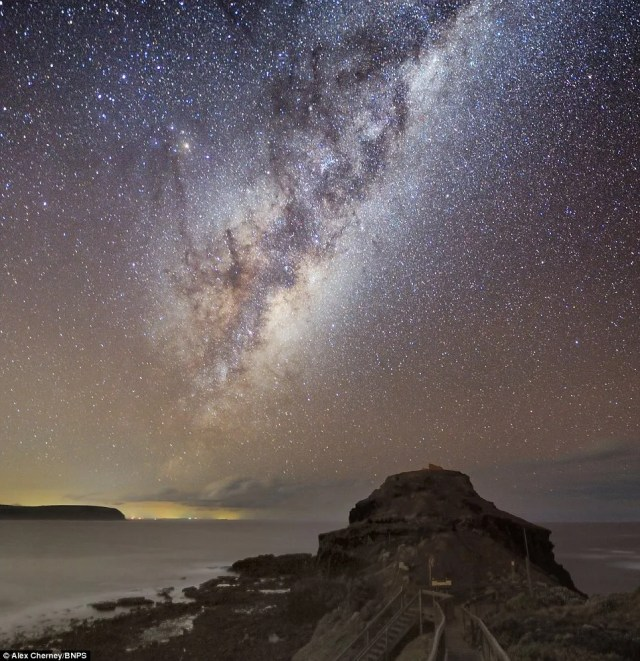 Stunning: Photographer Alex Cherney has dedicated his life's work to capturing the night sky as it is rarely seen by humans by using just an ordinary digital camera