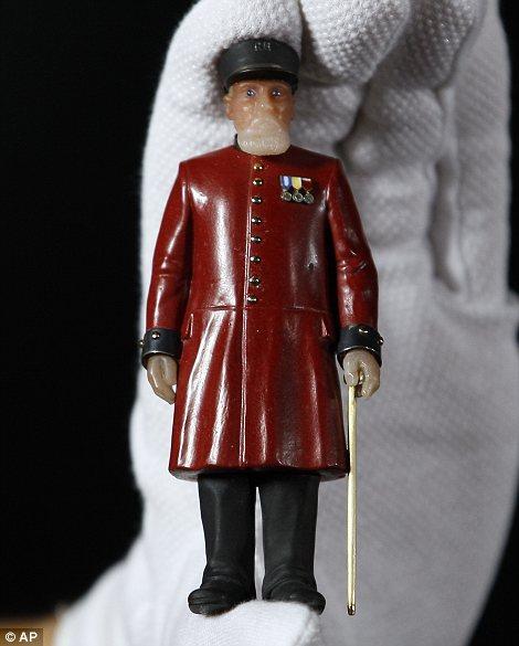 A miniature Fabergé figure of a Chelsea Pensioner