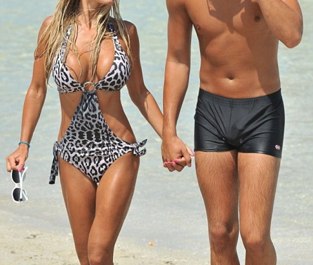 Beach Bodies Shauna Sand And Her Husband Show Off Enviably Slender Physiques On Miami Beach