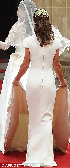 Sensation: Pippa almost stole the show at the royal wedding in a figure-hugging Sarah Burton dress