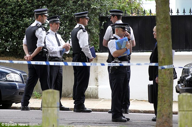 Dramatic: Police surrounded the property after Winehouse was found dead