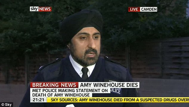 Unconfirmed: A Metropolitan Police spokesperson said the cause of death has yet to be confirmed