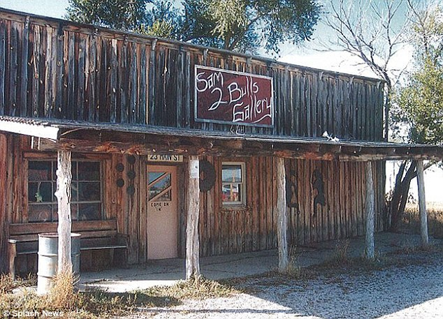 Ghost town: Scenic South Dakota was once a thriving train stop, complete with a saloon, and two jails, but now all the businesses are closed and eight people live there