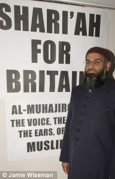 Ally: Anjem Choudary, a British-born convert to Islam and the former leader of the extremist organisation Islam4UK