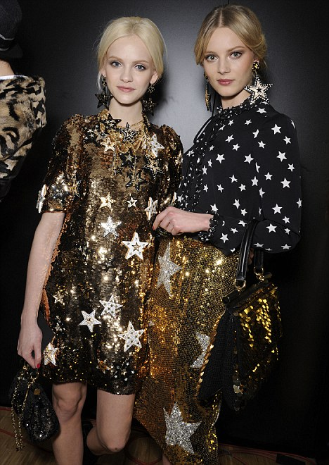 Starry eyed: D&G are putting stars on everything this season from shirts and skirts to bags and earrings