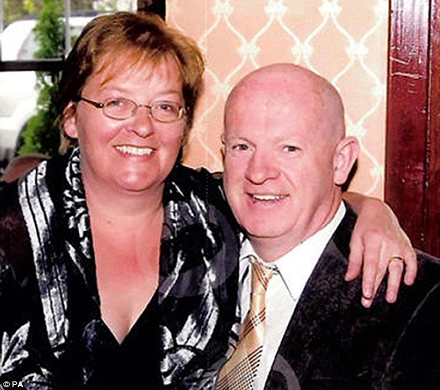 Sole survivor: Angela Sharkey awoke in hospital to be told her husband and two children had been killed in an Arson attack