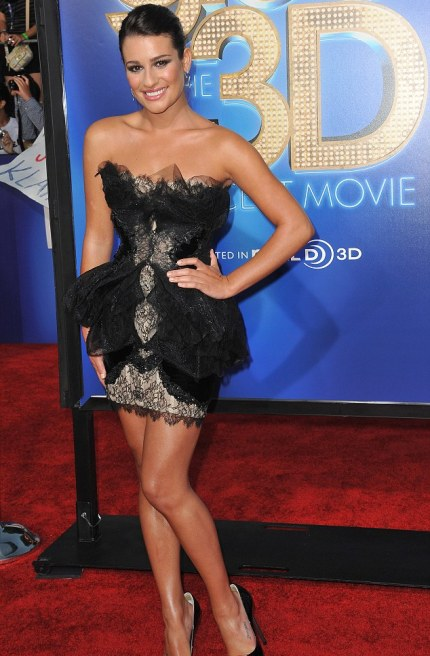 Gleeful: Lea Michele looks like a true A-list star on the red carpet for premiere of Glee The 3D Concert Movie