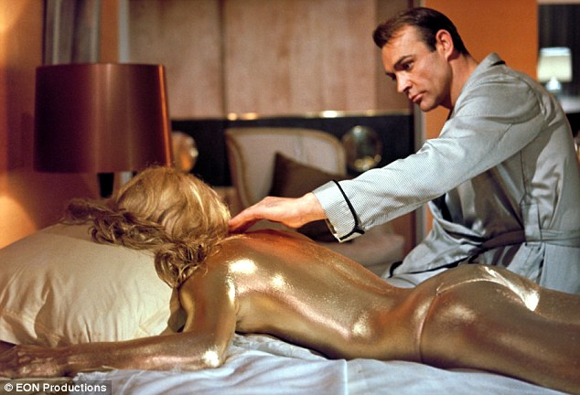 The original: Sean Connery and Shirley Eaton in 1964 movie Goldfinger