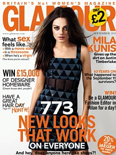 This month's Glamour magazine