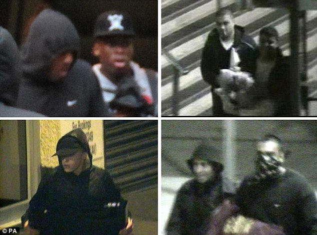 Police are urging anyone who recognises people in the photos to contact police and give them names