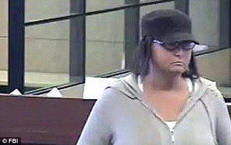 Same routine: Each time the bank robber hands the teller a note and implies she has a gun without ever producing it