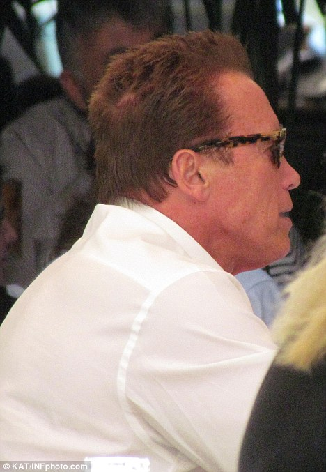 Arnold Schwarzeneggers Bald Patch Age Catches Up With