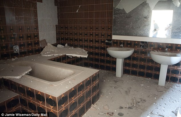 Vast: Almost every room in the palace had an adjoining bathroom with bidets and baths
