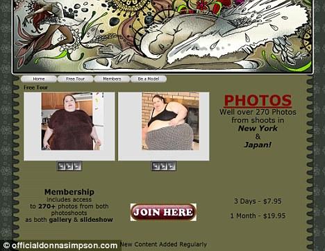 Clausura: Sra. Simpson anunció que estaba reemplazando a su sitio web donde la gente ve a comer con un blog de fitness