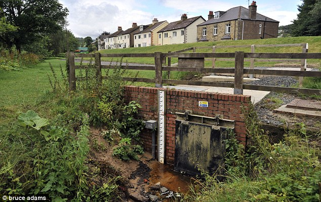 Moat hid in this storm water drain just yards from villager's homes when he was trying to evade capture from the police