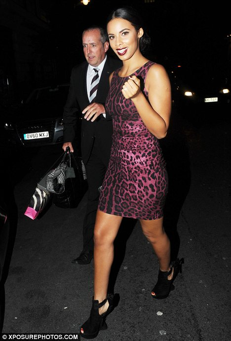 Heading home to show Marv? Only Rochelle didn't change into comfy clothes and wore her stunning Dolce and Gabbana leopard print dress home